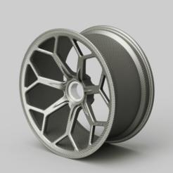 19'' Vossen hybrid carbon.png Télécharger fichier STL Aventador SVJ Vossen VPS 303 • Design pour impression 3D, harishodzic