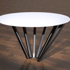 Round Table White 2.png Download STL file Round Table • 3D print model, harishodzic