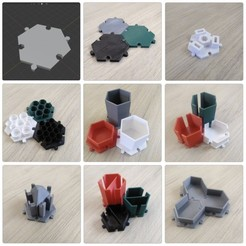 hexciting-mosaic.jpg Download STL file Hex: Complete Collection • 3D printer object, hexciting