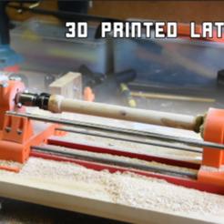 lathe_small_v3_thumb.PNG Download free STL file Wood lathe version 3 • 3D printer object, borgecmedia
