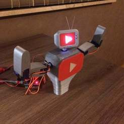 IMG_0741.JPG Download free STL file Subby the interactive youtube subscriber robot • 3D printing design, brianbrocken