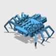 spider_bot_V2_view.PNG Download free STL file 8 legged spider robot • 3D print design, brianbrocken