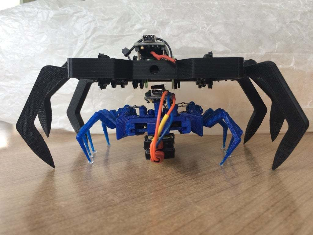 IMG_1355.JPG Download free STL file 8 legged spider robot • 3D print design, brianbrocken