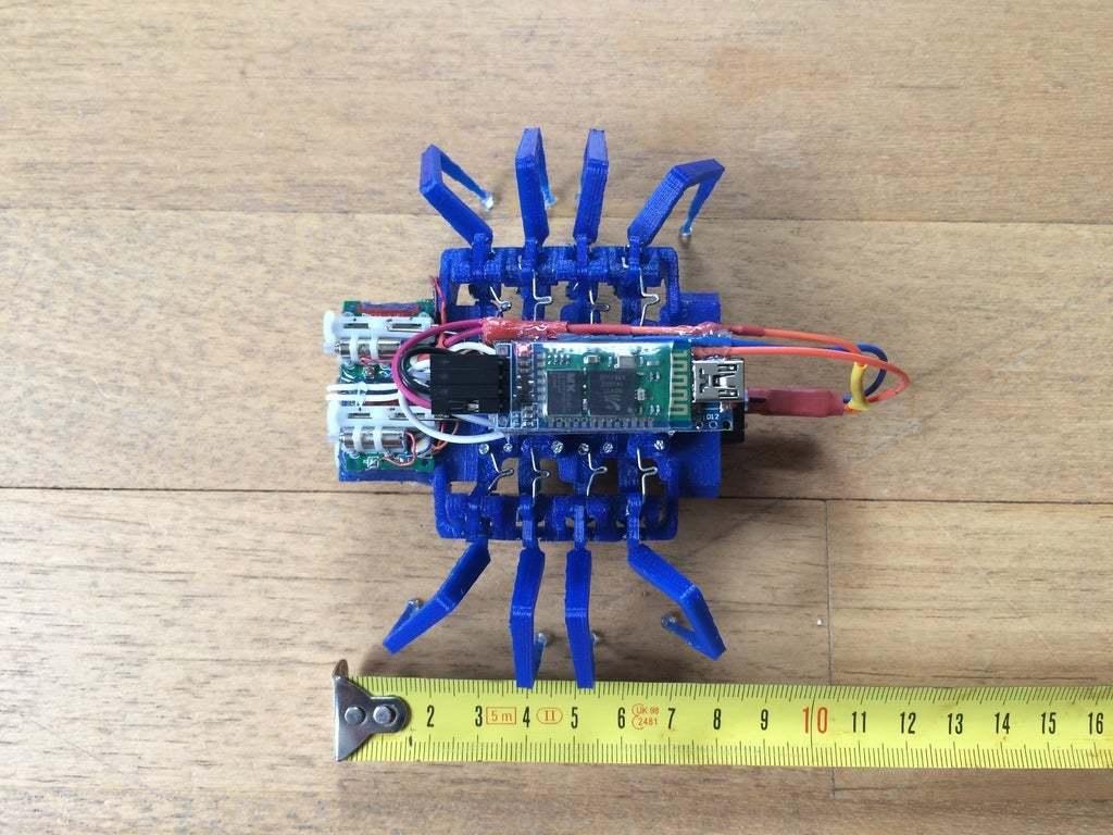 IMG_1356.JPG Download free STL file 8 legged spider robot • 3D print design, brianbrocken