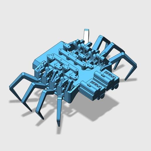spider_bot_V2_view_2.PNG Download free STL file 8 legged spider robot • 3D print design, brianbrocken
