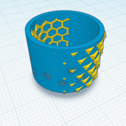 Beehive (1).png Download STL file Beehive- Wabi Sabi planter with drain hole • 3D print object, rachelauradesign