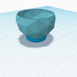 Satellite.png Download STL file Satellite - cup/planter with drain hole • 3D printing design, rachelauradesign