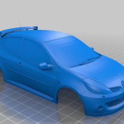 CLIO.PNG Download STL file RENAULT CLIO RS 98MM MINI Z 1:28 • 3D printing model, studio3dx