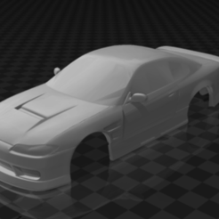 SILVIA.PNG Download STL file NISSAN SILVIA BODY 1:28 94MM DRIFT • 3D printer template, studio3dx