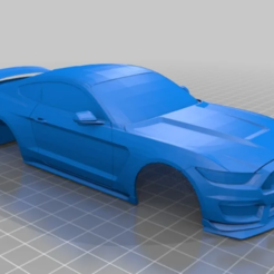 GT350.PNG Download STL file FORD MUSTANG GT 350 MINI Z 1:28 102MM • 3D printable object, studio3dx