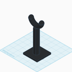 Screen Shot 2020-10-15 at 1.53.38 PM.png Download STL file Headphone Stand  • 3D printable object, langst2