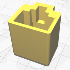 image V4.png Download free STL file Ethernet RJ45 pluggable protection • 3D print template, Theiremi