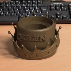 foto marcos.jpg Download STL file Mate Queen Corona • 3D print object, Dermi