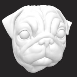 Screen Shot 2020-11-10 at 8.22.31 pm.png Download free OBJ file Pug Head • 3D printing model, spongey72