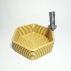 DSC03948.JPG Download STL file Printception hexagon Container • 3D print model, ceguamnr