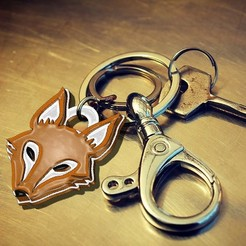j1.jpg Download STL file Fox Keychain • 3D print design, OsvaldoFilho