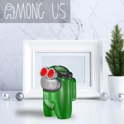 AU-CIRCLEGLASSES.jpg Download STL file AMONG US - CIRCLE GLASSES • 3D print object, OsvaldoFilho