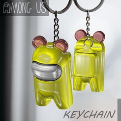 BEAR-SKIN.jpg Download STL file AMONG US KEYCHAIN - BEAR EAR • Design to 3D print, OsvaldoFilho