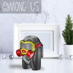 AU-GASMASK.jpg Download STL file AMONG US - GAS MASK • 3D print template, OsvaldoFilho
