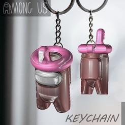 FLAMINGO-SKIN.jpg Download STL file AMONG US KEYCHAIN - FLAMINGO • 3D printable design, OsvaldoFilho