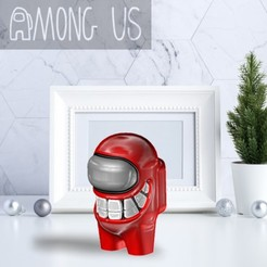 AU-SMILE.jpg Download STL file AMONG US - SMILE • 3D printing object, OsvaldoFilho