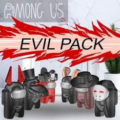 EVIL PACK.jpg Download STL file AMONG US - EVIL PACK • 3D printing model, OsvaldoFilho