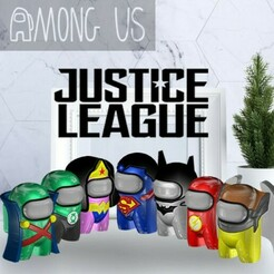 JUSTICELEAGUEPACK.jpg Download STL file AMONG US - JUSTICE LEAGUE PACK 1 • 3D printer model, OsvaldoFilho