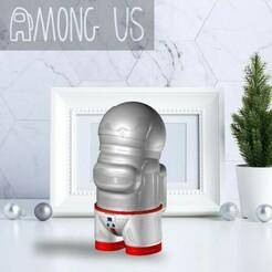 ASTRONAUTSKIN.jpg Download STL file AMONG US - ASTRONAUT SKIN • 3D print design, OsvaldoFilho