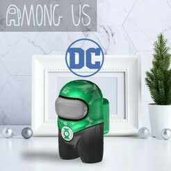 AU-GREENLANTERN.jpg Download STL file AMONG US - GREEN LANTERN • 3D printing template, OsvaldoFilho