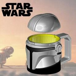 canc.jpg Download STL file The Mandalorian - Mug with Cover - STAR WARS • Model to 3D print, OsvaldoFilho