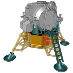 apl11-2.png Download STL file Apollo 11 • 3D print design, OsvaldoFilho