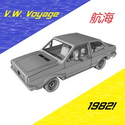 voyage-1.png Download STL file V.W. Voyage - 1982 • 3D printing object, OsvaldoFilho