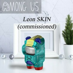 AU-LEON.jpg Download STL file AMONG US - LEON (COMMISSIONED) • 3D print model, OsvaldoFilho