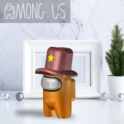 AU-COWBOY.jpg Télécharger fichier STL PARMI NOUS - COWBOY • Objet imprimable en 3D, OsvaldoFilho