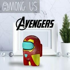 AU-IRONMANMARK85.jpg Download STL file AMONG US - IRON MAN MARK 85 • 3D print object, OsvaldoFilho