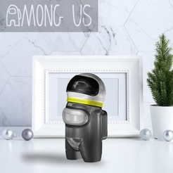 AU-ASTRONAUT.jpg Download STL file AMONG US - ASTRONAUT • Model to 3D print, OsvaldoFilho