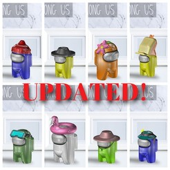 Pack 4.jpg Download STL file AMONG US - PACK 4 • 3D print template, OsvaldoFilho