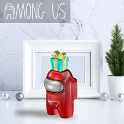 AU-GIFT.jpg Download STL file AMONG US - GIFT • 3D printing object, OsvaldoFilho