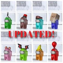 Pack 1.jpg Download STL file AMONG US - PACK 1 • 3D printing design, OsvaldoFilho