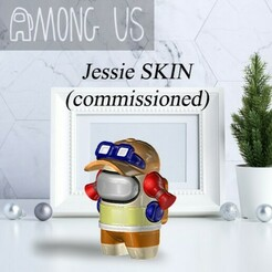 AU-JESSIE.jpg Download STL file AMONG US - JESSIE (COMMISSIONED) • Design to 3D print, OsvaldoFilho