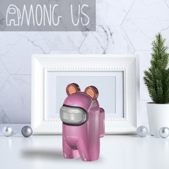 AU-BEAR.jpg Download STL file AMONG US - BEAR EAR • Design to 3D print, OsvaldoFilho