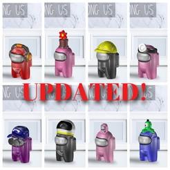 Pack 7.jpg Download STL file AMONG US - PACK 7 • 3D printable template, OsvaldoFilho