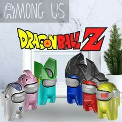 DBZPACK.jpg Download STL file AMONG US - DRAGON BALL Z - PACK 1 • 3D printer object, OsvaldoFilho