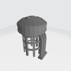 deposito1.png Download free STL file Industrial elevated water/fuel tank (low poly) • 3D print model, Easy3Dterrain