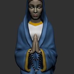 pintada2.jpg Download STL file Lady of Knock • 3D printable template, RenatoMoreira