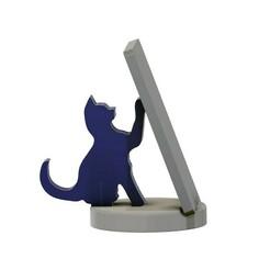 CAT PHONE HOLDER v6.jpg Download STL file CAT PHONE HOLDER • Model to 3D print, marinove
