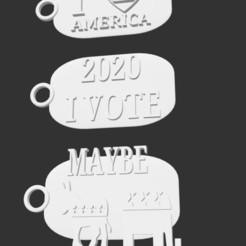 Capture d'écran 2020-10-17 à 21.02.27.jpg Télécharger fichier STL Pack Attache masque + Porte-clés • Design pour imprimante 3D, ivoteamerica