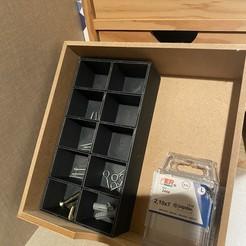 35DB2A34-51CA-4FE7-ABFA-54EC07356646.jpeg Download free STL file Box for screws • 3D printer template, emeahache
