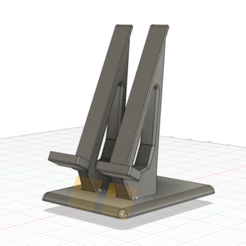Untitled.png Download free STL file SLA Printer Phone Stand, Modular • 3D printing template, mackb