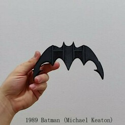 1989.jpeg Download STL file 1989 Batarang • 3D printer template, Calgary_Prints